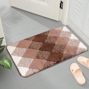 Напольный коврик с геометрическим узором SHEIN. Цвет: многоцветный