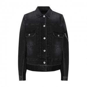 Джинсовая куртка Sacai. Цвет: чёрный
