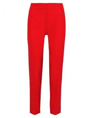 Повседневные брюки ANTONIO BERARDI. Цвет: красный