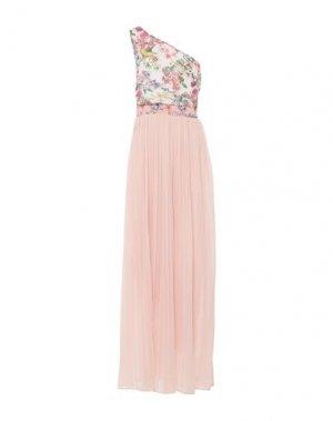 Длинное платье FRACOMINA. Цвет: светло-розовый
