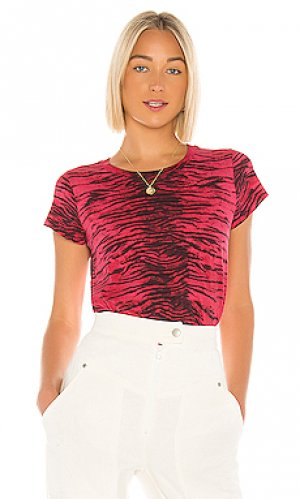Укороченная майка tiger Pam & Gela. Цвет: красный