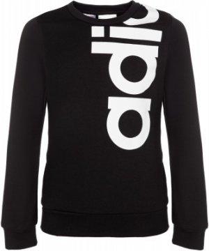 Свитшот для девочек , размер 170 Adidas. Цвет: черный