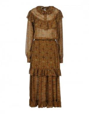 Длинное платье BAROCCO. Цвет: коричневый