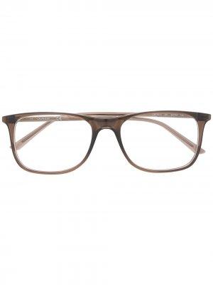 Очки в прямоугольной оправе с логотипом Calvin Klein. Цвет: коричневый