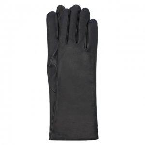 Кожаные перчатки Agnelle. Цвет: синий