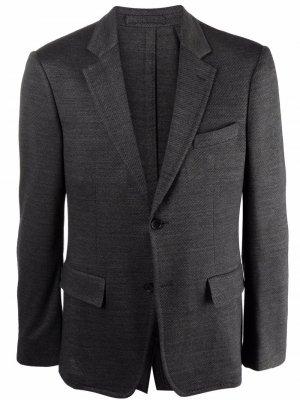 Однобортный пиджак строгого кроя Salvatore Ferragamo. Цвет: серый