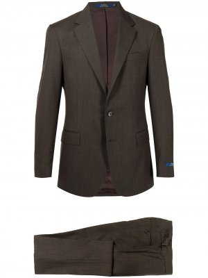 Костюм с однобортным пиджаком Polo Ralph Lauren. Цвет: коричневый