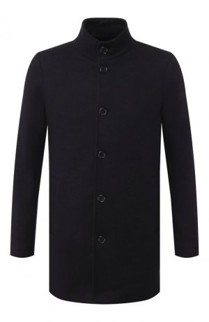 Кашемировое пальто Andrea Campagna. Цвет: синий