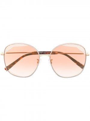 Солнцезащитные очки в массивной оправе MISSONI EYEWEAR. Цвет: золотистый