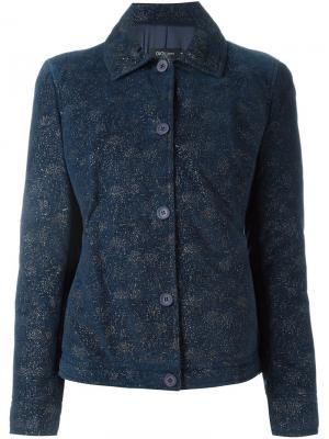 Куртка с отблеском Romeo Gigli Pre-Owned. Цвет: синий