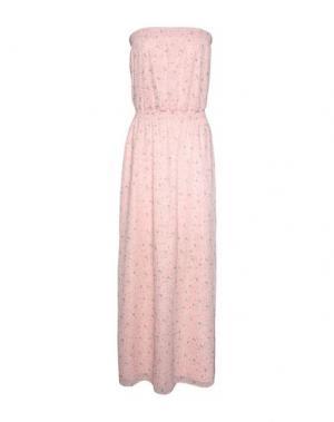 Длинное платье GEORGE J. LOVE. Цвет: розовый