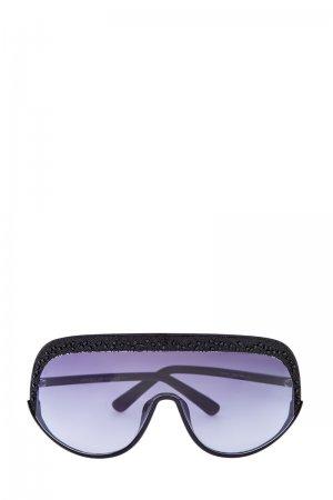 Очки Siryn в стиле горнолыжной маски с кристаллами Swarovski JIMMY CHOO (sunglasses). Цвет: none