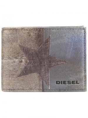 Визитница со звездой Diesel. Цвет: серый