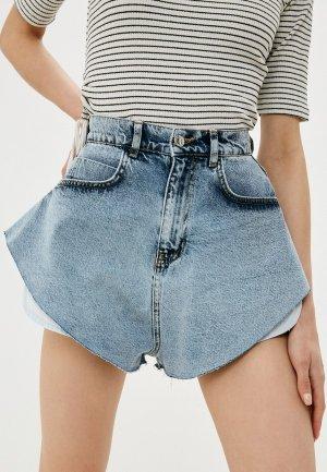 Шорты джинсовые Top. Цвет: голубой