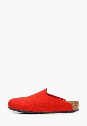 Сабо Birkenstock. Цвет: красный