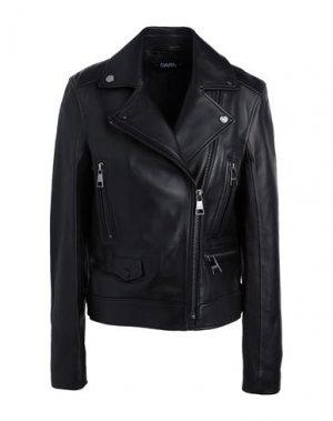 Куртка KARL LAGERFELD. Цвет: черный
