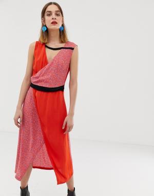 Платье миди со вставкой с принтом 2NDDAY-Мульти 2nd Day