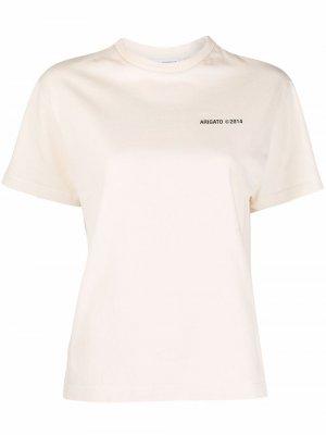 Logo-print cotton T-Shirt Axel Arigato. Цвет: нейтральные цвета