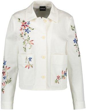 Джинсовая куртка TAIFUN Gerry Weber. Цвет: offwhite patterned