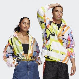 Ветровка Love Unites (Унисекс) Originals adidas. Цвет: разноцветный