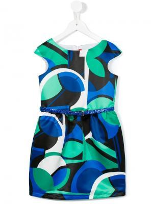 Платье с принтом Loredana. Цвет: зеленый