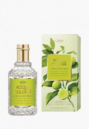 Одеколон 4711 Acqua Colonia Refreshing - Lime & Nutmeg, 50мл. Цвет: прозрачный