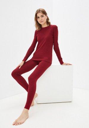 Комплект термобелья Montero Cotton Comfort EveryDay, +10/-15 градусов. Цвет: бордовый