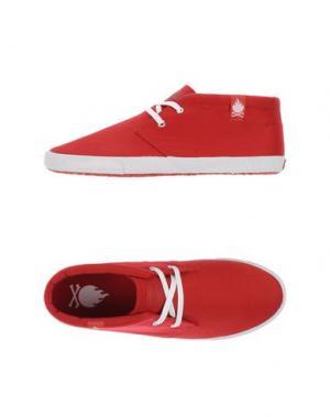 Высокие кеды и кроссовки BOBBIE BURNS. Цвет: красный