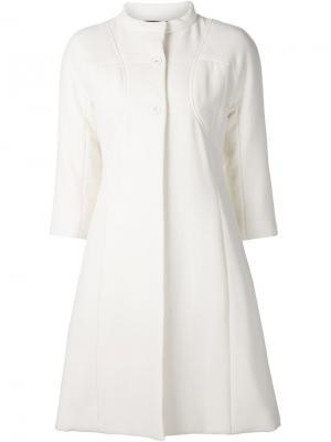 Пальто с рукавами три четверти Gio Guerreri Gio'. Цвет: белый