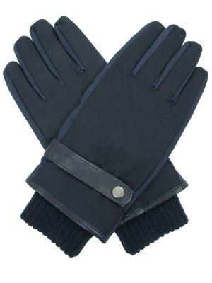 Перчатки текстильные Paul&Shark. Цвет: синий