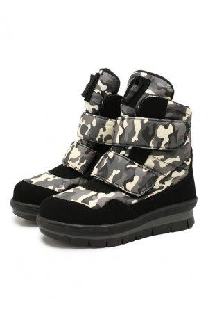 Утепленные ботинки Jog Dog. Цвет: разноцветный