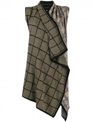 Кардиган-пальто с запахом Antonio Marras. Цвет: черный