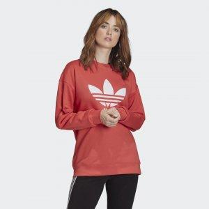 Свитшот Trefoil Originals adidas. Цвет: белый