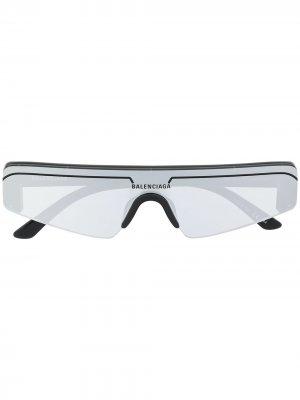 Ski rectangle sunglasses Balenciaga Eyewear. Цвет: черный