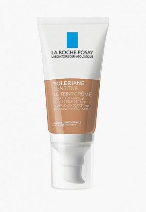 Крем для лица La Roche-Posay TOLERIANE SENSITIVE тонирующий увлажняющий, натуральный оттенок, 50 мл. Цвет: бежевый