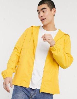 Желтая складывающая ветровка -Желтый ASOS DESIGN