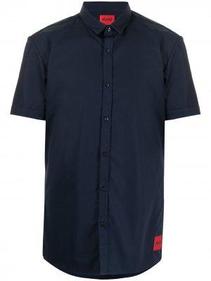 Рубашка с короткими рукавами HUGO. Цвет: синий