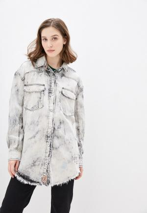Куртка джинсовая Free People. Цвет: серый