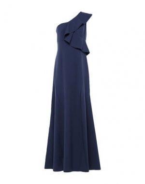 Длинное платье FRACOMINA. Цвет: темно-синий