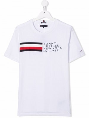 TEEN logo-print cotton T-shirt Tommy Hilfiger Junior. Цвет: белый