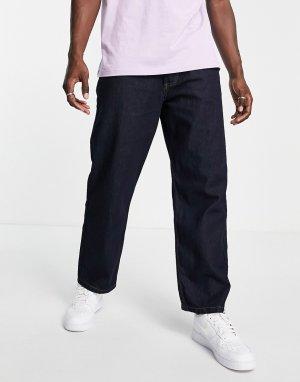 Широкие джинсы цвета индиго -Голубой LDN DNM