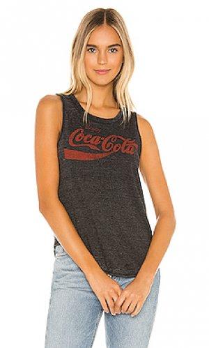 Майка enjoy coca cola Chaser. Цвет: черный