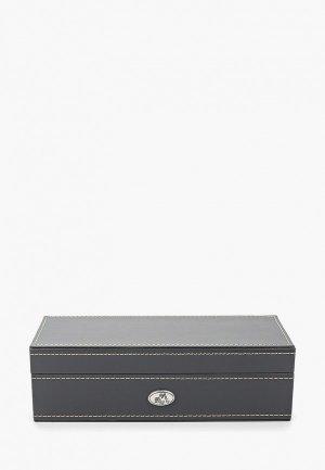 Шкатулка для украшений Moretto часов. Цвет: серый
