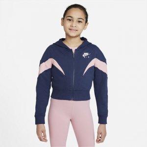 Худи с молнией во всю длину для девочек школьного возраста Air - Синий Nike
