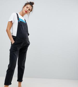 Выбеленный черный джинсовый комбинезон ASOS DESIGN Maternity