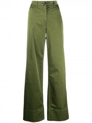 Расклешенные брюки Luisa Cerano. Цвет: зеленый