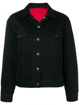 Укороченная джинсовая куртка Closed. Цвет: черный
