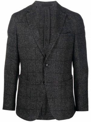 Однобортный пиджак строгого кроя Boss Hugo. Цвет: черный