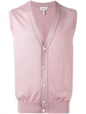 Жилет на пуговицах Brioni. Цвет: розовый и фиолетовый