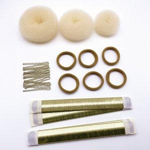 30шт Инструмент для укладки волос SHEIN. Цвет: бежевые